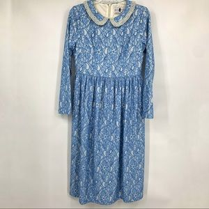 Dainty Jewells Dress Medium Modest Blue Lace
